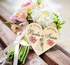 Darčeky pre svadobčanov - Svadobná magnetka - 10932879_