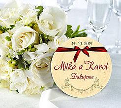Darčeky pre svadobčanov - Svadobná magnetka - 10933826_