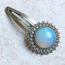 Ozdoby do vlasov - Vintage Opalite Hair Clip / Veľká vintage sponka s opalitom - 10935149_
