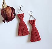 """Náušnice - strapcové makramé náušnice """"rozkvitnutá lúka"""" - 10933196_"""