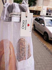 Nákupné tašky - eko vrecko na bagety - 10935040_