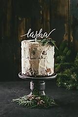 Dekorácie - Svadobný zápich na tortu - láska - 10933848_