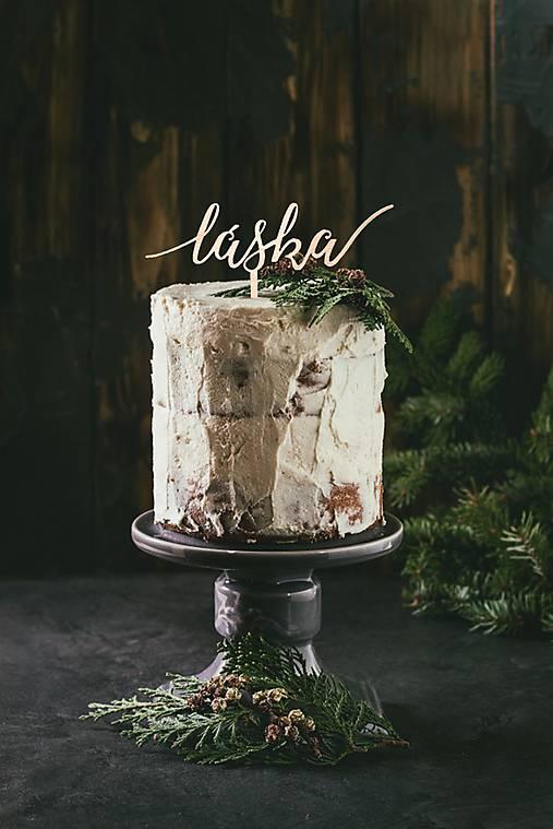 Svadobný zápich na tortu - láska