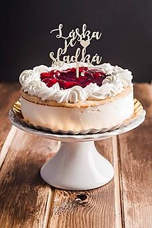 Dekorácie - Zápich na tortu - Láska je sladká - 10933340_