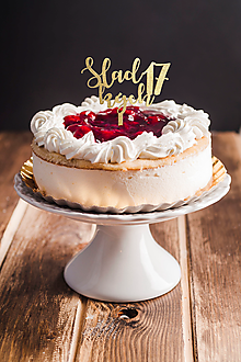 Dekorácie - Zápich na tortu - Sladkých + číslo - 10933365_