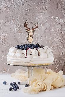 Dekorácie - Zápich na tortu - jeleň - 10933407_