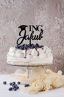 Dekorácie - Zápich na tortu - meno + titul - 10933417_