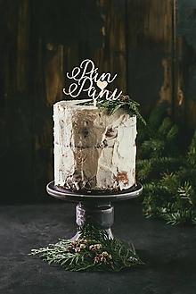 Dekorácie - Svadobný zápich na tortu - Pán❤Pani - 10933872_