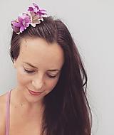 """Ozdoby do vlasov - Kvetinový hrebienok """"Purpur"""" - 10935021_"""