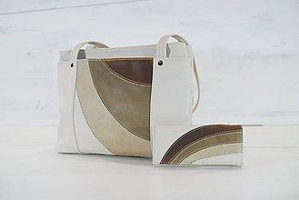 Veľké tašky - Kožený set - Anita s peňaženkou - 10933099_