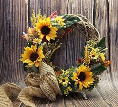 Dekorácie - Jeseň-slnečnice - 10934952_