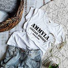 Tričká - Dámske tričko Ammyla Vintage (white) - 10932782_