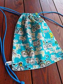 Iné tašky - Vrecko na prezúvky modré - 10934767_