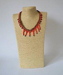 Náhrdelníky - Kožený náhrdelník, šperky v egyptskom štýle - 10933475_