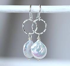 Náušnice - Beach & pearls náušnice /m-72 - 10933155_