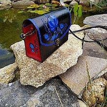 Kabelky - Kožená kabelka - ľudový vzor - 10933743_