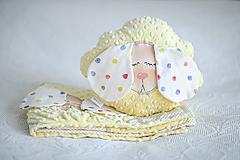 Textil - Detský vankúš - Slnečná ovka - 10935121_