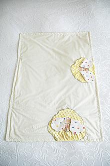 Textil - Slnečna minky deka #dekovka - 10935197_