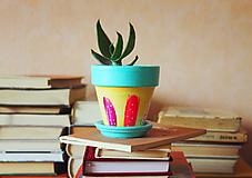 Nádoby - Kvetináč - Pastel (malý) - 10933792_