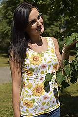Tielka - Tielko na dojčenie - sunflower - 10932438_