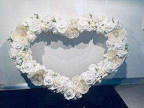 Dekorácie - Svadobné srdce - 10933593_