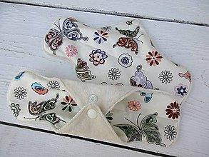 Úžitkový textil - látková nočná vložka -motýľ - 10934595_