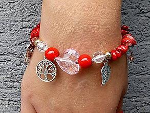 Náramky - Náramok z lámaného kameňa červený - 10934058_