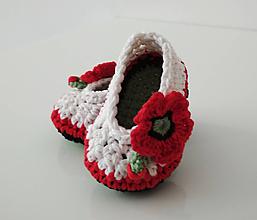 Topánočky - Makové balerínky - 10934875_