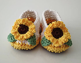 Topánočky - Slnečnicové balerínky - 10934885_