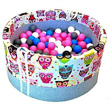 Hračky - Suchý bazén BabyBall s míčky - 10933945_