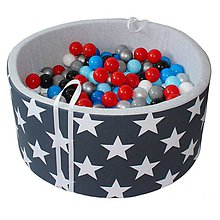 Hračky - Suchý bazén BabyBall s míčky - 10934037_