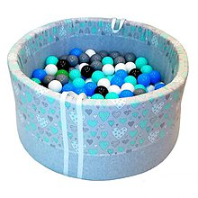 Hračky - Suchý bazén BabyBall s míčky - 10934495_