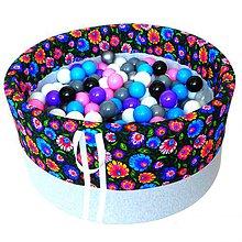 Hračky - Suchý bazén BabyBall s míčky - 10934525_