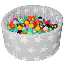 Detské doplnky - Suchý bazén BabyBall s míčky - 10935107_
