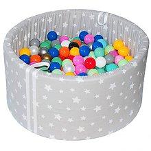 Detské doplnky - Suchý bazén BabyBall s míčky - 10935220_