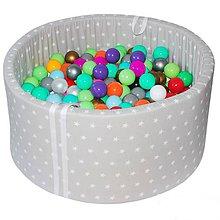 Detské doplnky - Suchý bazén BabyBall s míčky - 10935253_