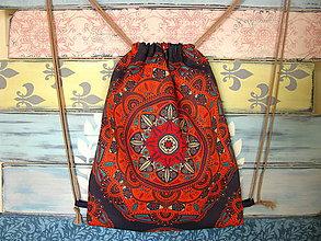 Batohy - Ruksak, batůžek, vak - Švestková mandala - 10933730_