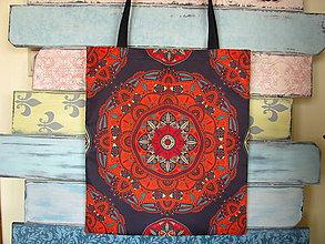 Nákupné tašky - Taška pro slečnu vyrovnanou - švestková - 10934774_