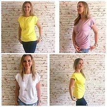 Tričká - Voľné tričko so záhybmi - 10934007_