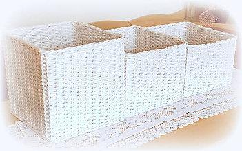 Košíky - Košík biely na želanie - 10934399_
