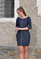 Šaty - Contrasting line - 10933245_