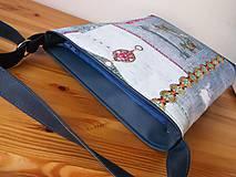 Kabelky - folkový denim - 10934655_
