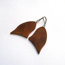 Náušnice - Drevené náušnice visiace - čerešňové kúsky - 10935204_