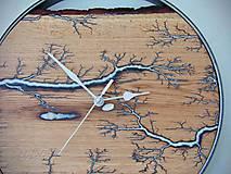 Hodiny - hodiny fractal dubovokovové - 10938270_