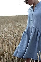 Šaty - Hortenzia košeľové šaty čierne - 10938469_