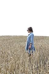Šaty - Hortenzia košeľové šaty čierne - 10938470_