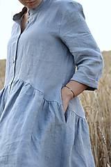 Šaty - Hortenzia košeľové šaty čierne - 10938471_
