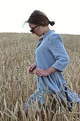 Šaty - Hortenzia košeľové šaty čierne - 10938474_