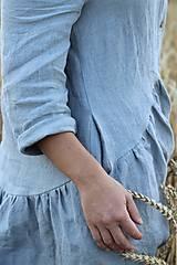 Šaty - Hortenzia košeľové šaty čierne - 10938475_