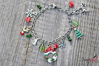 Náramky - náramok s príveskami Vianoce 1 - 10937224_